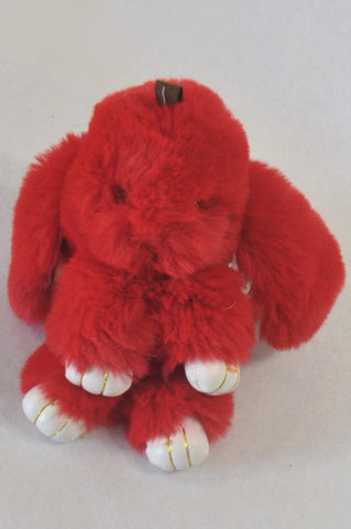 Red Chiming Ear Soft Bunny Toy Unisex All Ages