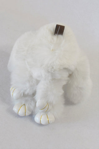 White Chiming Ear Soft Bunny Toy Girls All Ages