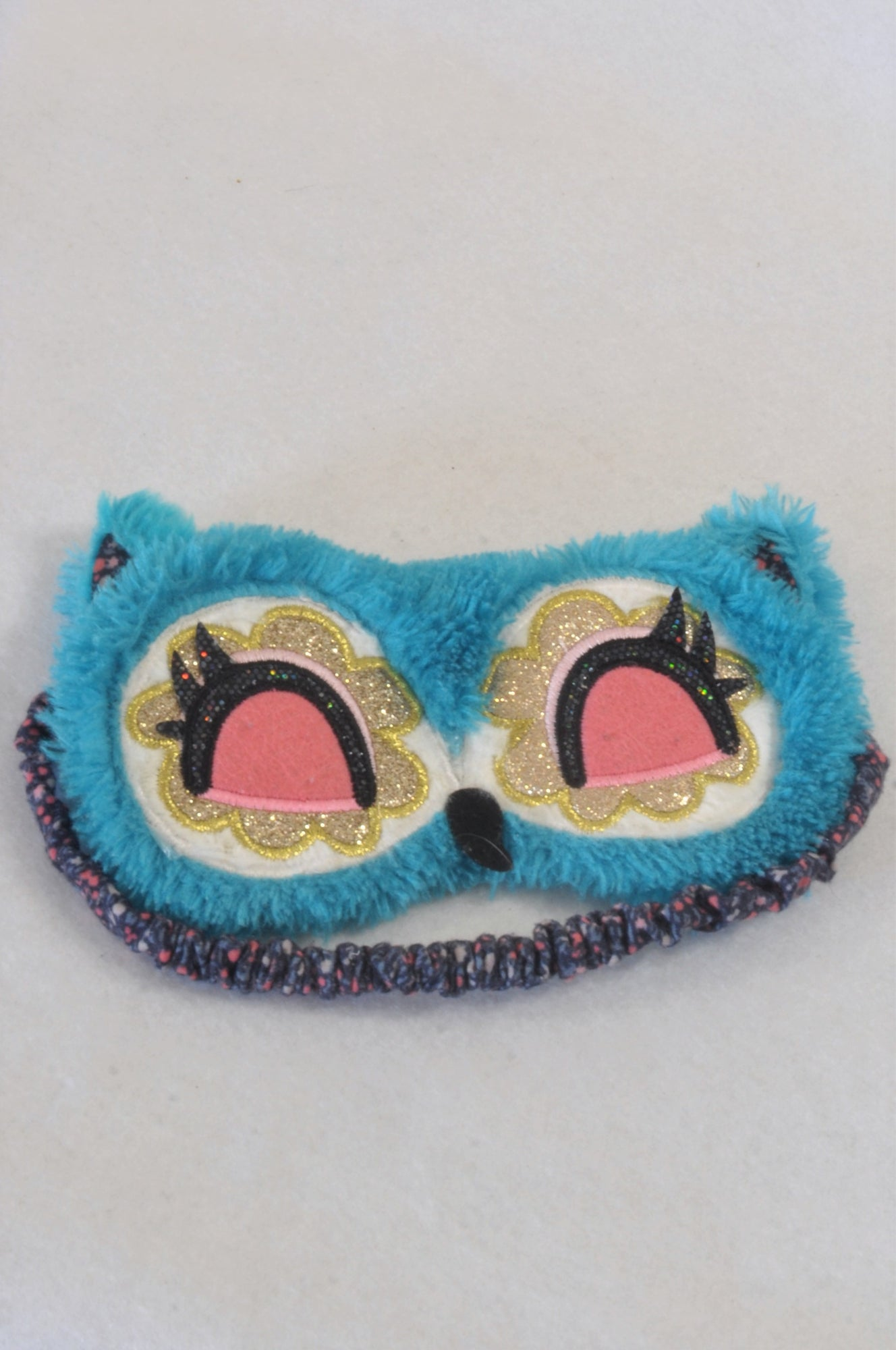 Claire's Blue Owl Eye Mask Accessory Girls 4-10 years