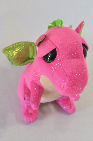 Ty Pink & Lime Sparkle Dragon Toy Girls All Ages