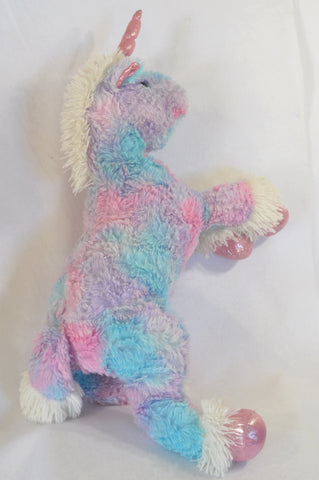 Mr. Price Pink, Purple & Blue Large Plush Unicorn Toy Girls All Ages