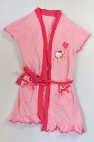 c4387a53d Woolworths Pink Hello Kitty Summer Dressing Gown Girls 4-5 years