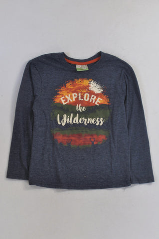 Ackermans Blue Explore The Wilderness T-shirt Boys 7-8 years