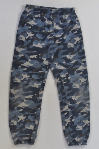 Woolworths Blue Camo Track Pants Boys 6-7 years