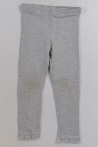 Pick 'n Pay Grey Frill Trim Leggings Girls 5-6 years