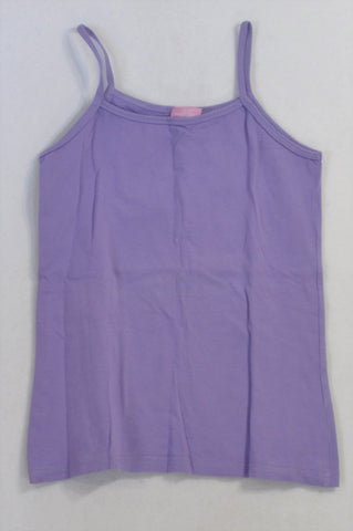 Pick 'n Pay Basic Purple Spaghetti Tank Top Girls 11-12 years