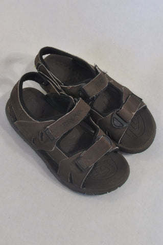 Bronx Size 13 Brown Velcro Sandals Boys 6-7 years