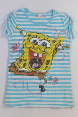 Nickelodeon Blue Striped Spongebob T-shirt Girls 11-12 years