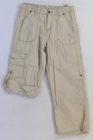 Edgars Beige Cargo Roll-Up Pants Boys 7-8 years