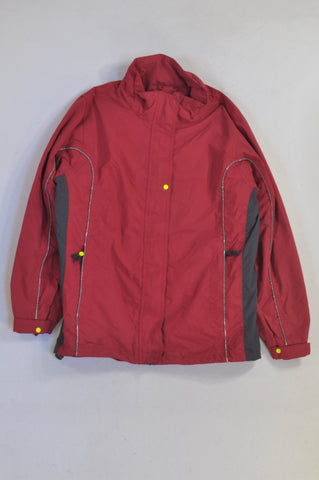 TCM Red & Grey Winter Jacket Unisex 11-12 years