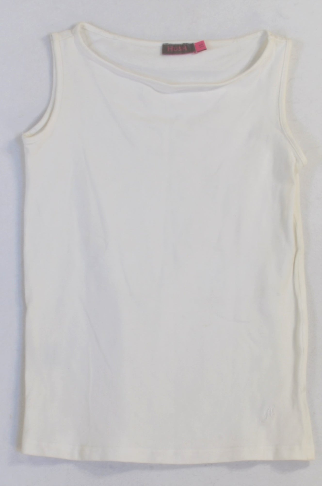 HUSH Basic White Tank Vest Top Girls 10-11 years