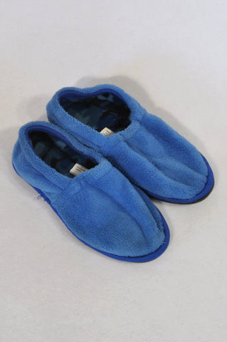 Size 12 Blue Rubber Sole Slippers Boys 6-7 years