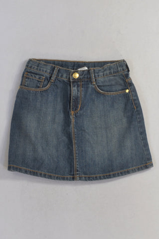 Gymboree Stone Washed Denim Skirt Girls 7-8 years