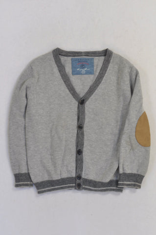 Next Grey Black Trim Elbow Detail Jersey Boys 3-4 years