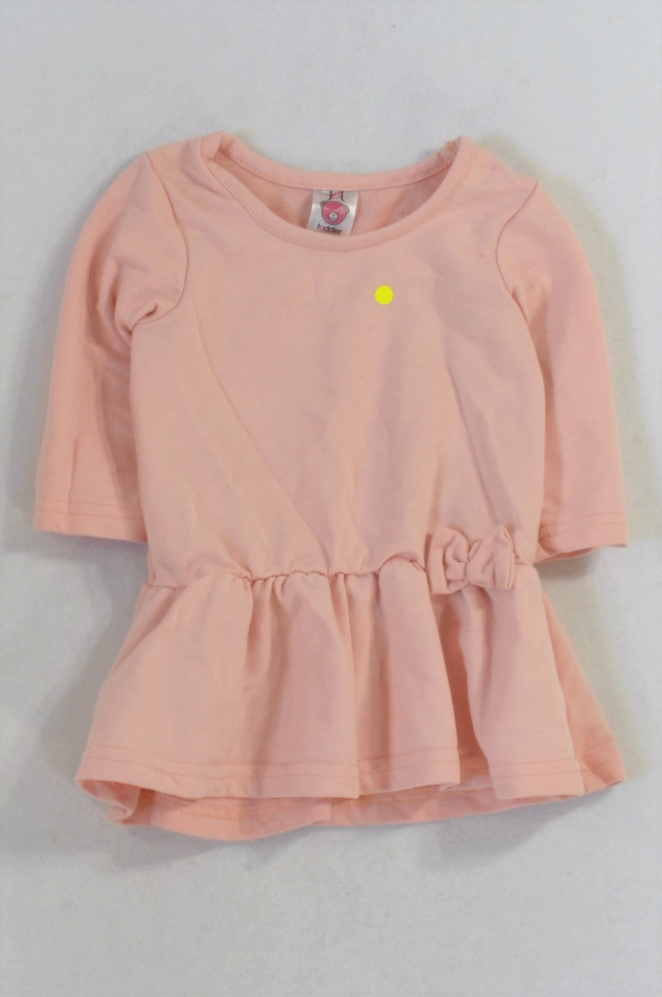 Jet Basic Pink Bow Dress Girls 3-6 months