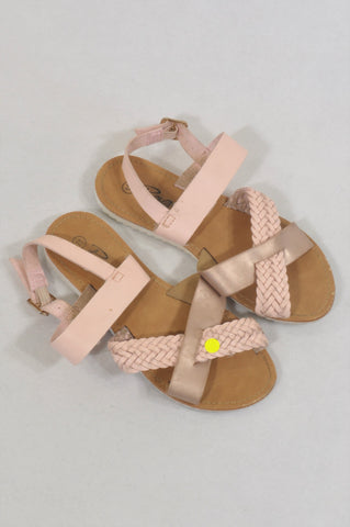 Rage Size 11 Pink Cross Over Shoes Girls 4-5 years