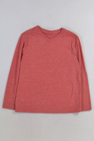 New Woolworths Red Heathered T-shirt Boys 6-7 years