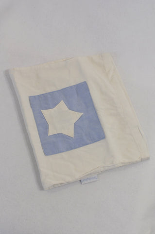 Treehouse White & Blue Star Patchwork Pillowcase  Unisex N-B to 2 years