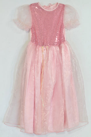 Pink Tulle Sequin Dress Girls 5-6 years