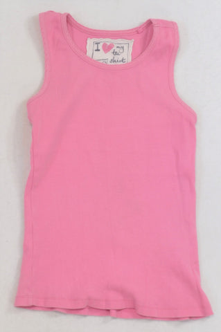 Next Pink Ribbed Tank Vest Top Girls 7-8 years