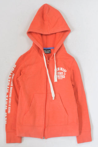New Wave Basic Orange Hoodie Boys 8-9 years