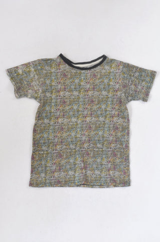 Multi Color tribal T-shirt Boys 6-7 years