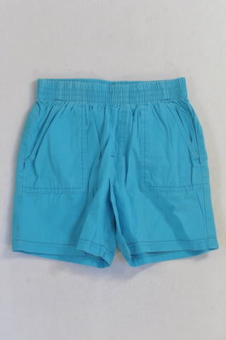 Woolworths Basic Blue Play Shorts Boys 6-7 years