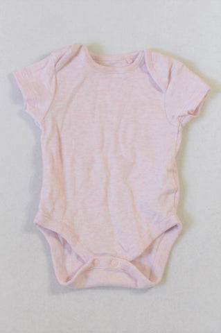 Next Pink Heathered Baby Grow Girls 0-3 months