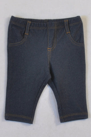 Next Blue Soft Jeggings Girls 0-3 months