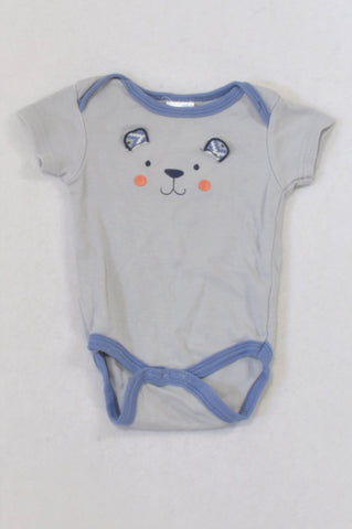 Chick Pea Blue Bear Floppy Ears Baby Grow Boys 0-3 months