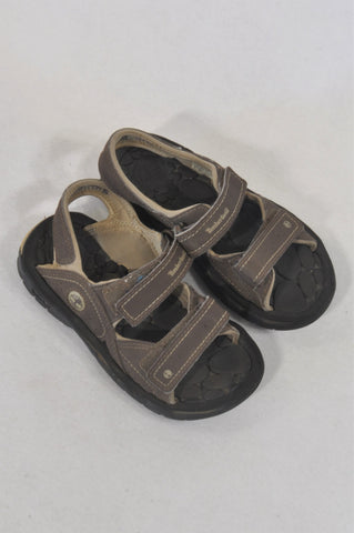 Timberland Size 12.5 Brown Velcro Sandals Boys 5-7 years