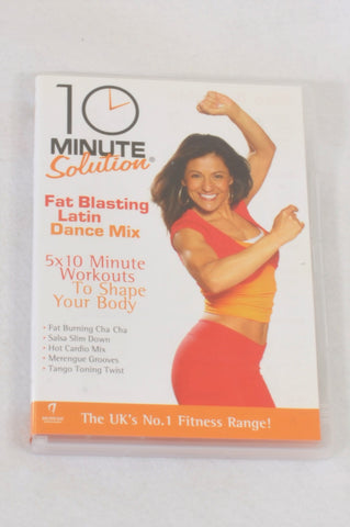 10 Minute Solutions Fat Blasting Latin Dance Mix DVD Maternity Accessory One Size
