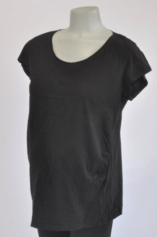 H&M Basic Black Maternity T-shirt Size XL