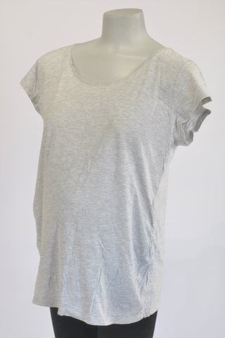 H&M Basic Grey Heathered Maternity T-shirt Size XL
