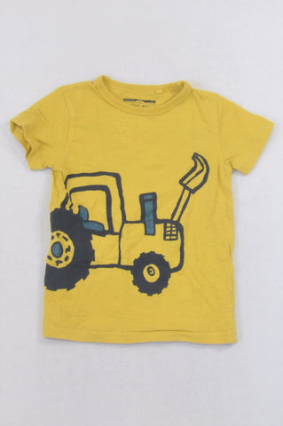 Next Yellow Tractor T-shirt Boys 3-4 years