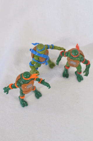 3 Pack Ninja Turtle Set Toys Boys 4-10 years
