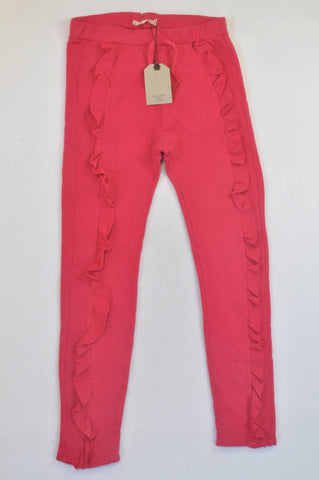 New Zara Cerise Frill Track Pants Girls 13-14 years