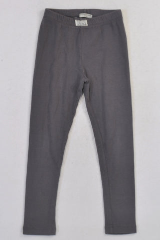 Sticky Fudge Grey Ribbed Leggings Girls 6-7 years