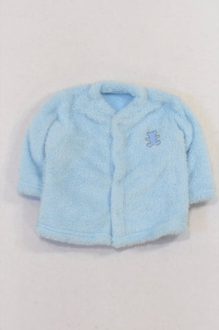 Woolworths Blue Fleece Bear Jacket Boys 0-3 months