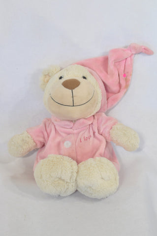 Bayer Pink Sleepy Bear Plush Toy Girls All Ages