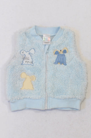 Edgars Blue Fleece Little Mouse Body Warmer Boys 0-3 months