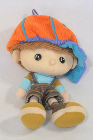 Orange Hat Little Boy Soft Toy Unisex All Ages