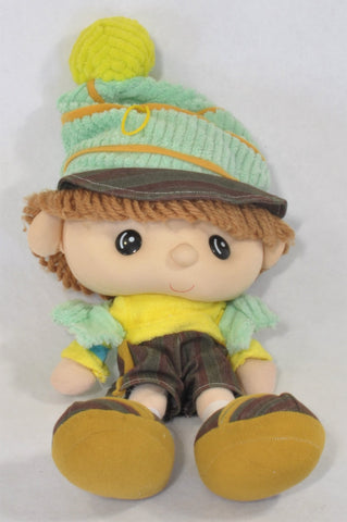 Green Beanie Little Boy Soft Toy Unisex All Ages