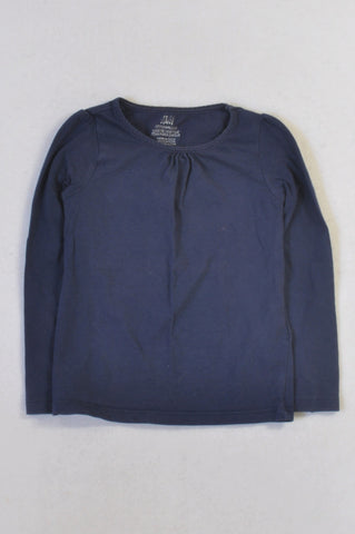 H&M Basic Navy Long Sleeved T-shirt Girls 2-4 years