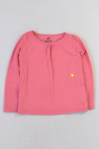 H&M Basic Pink Long Sleeved T-shirt Girls 2-4 years