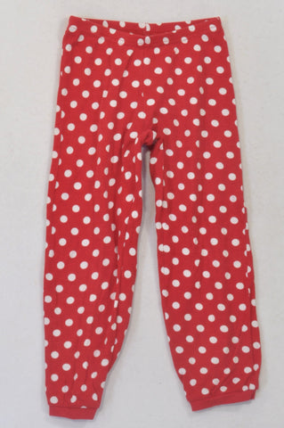 H&M Red Dotty Cuffed Lounge Pants Girls 4-6 years