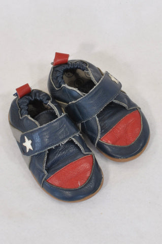 9ff54578a Shooshoos Navy   Red Star Strap Velcro Shoes Boys 18 months to 3 years
