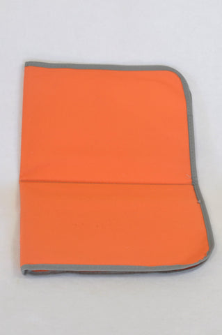 Orange Grey Trim Changing Mat Unisex N-B to 2 years