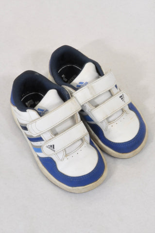 cf3eb3f3c Adidas Navy   White Double Strap Velcro Sneaker Shoes Boys 18 months to 3  years