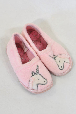 b5ede10e6 Woolworths Size 7 Pink Unicorn Slippers Girls 2-3 years